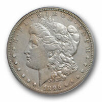 1896 S $1 MORGAN DOLLAR ICG VF 35  FINE TO EXTRA FINE BETTER DATE