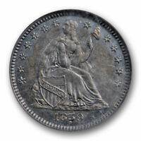 1859 PROOF SEATED LIBERTY HALF DIME NGC PF 63 PR LOW MINTAGE TONED