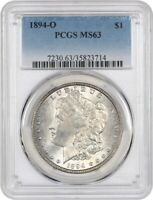 1894-O $1 PCGS MINT STATE 63 - BETTER DATE FROM NEW ORLEANS - MORGAN SILVER DOLLAR