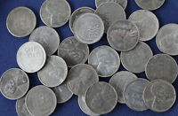 1943-P LINCOLN WARTIME STEEL CENT ROLL OF 50 COINS E2764