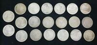20 MIXED MORGAN SILVER DOLLARS 1879-1900 15 DIFFERENT DATES VF& BETTER I518