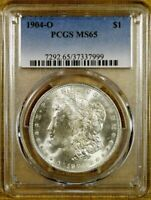 1904-O PCGS MINT STATE 65 MORGAN DOLLAR - 100 WHITE