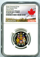 2019 CANADA 50 CENT SILVER COLORED PROOF NGC PF69 UC HALF DO