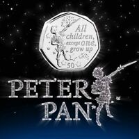 WORLDS 1ST 2019 PETER PAN 50P COIN
