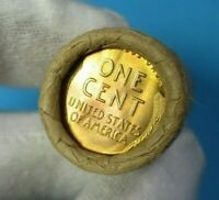 LINCOLN WHEAT CENT  COLLECTABLE  PENNY ROLL WITH BRILLIANT U