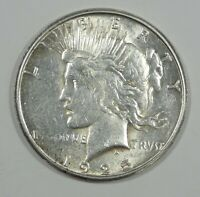1925-S PEACE DOLLAR ALMOST UNCIRCULATED SILVER DOLLAR