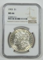 1903 MORGAN DOLLAR CERTIFIED NGC MINT STATE 66 SILVER DOLLAR
