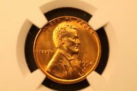 1954-S LINCOLN WHEAT COPPER 1C MINT STATE 66 RD RED NGC 4857149-052