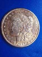KEY DATE 1886 S MORGAN SILVER DOLLAR, GOOD CONDITION FOR A HARD TO FIND DATE