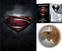 2016 24K GILDED SILVER SUPERMAN DC COMICS SUPERHERO EDITION .999 1OZ $5 COIN