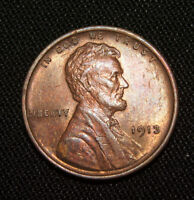 VF 1913 LINCOLN CENT WHEAT CENT RED/BROWN