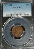 1914-D LINCOLN CENT : PCGS F12