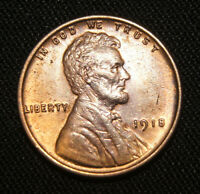 1918 LINCOLN CENT WHEAT CENT, SHARP GEM BURED
