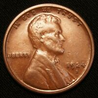 1924-S LINCOLN CENT WHEAT CENT SOLID