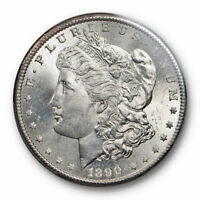 1890 S $1 MORGAN DOLLAR PCGS MINT STATE 64 UNCIRCULATED BETTER DATE BLAST WHITE CERT