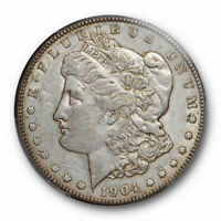 1904 S $1 MORGAN DOLLAR PCGS AU 50 ABOUT UNCIRCULATED BETTER DATE ORIGINAL
