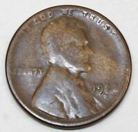 1923-S UNITED STATES LINCOLN WHEAT CENT / PENNY - G GOOD CONDITION