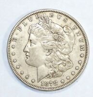 1878 8-TAIL FEATHER MORGAN $  EXTRA FINE SILVER $