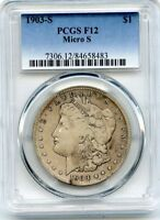 C9146- 1903-S VAM-2 MICRO S TOP 100 MORGAN DOLLAR PCGS F12