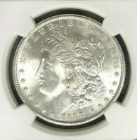 1888 MORGAN SILVER DOLLAR - NGC MINT STATE 65 BEAUTIFUL COIN REF003
