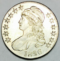 1826 CAPPED BUST HALF ABSOLUTE KNOCKOUT GEM BU  FLAWLESS EXA