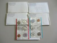 LOT OF 5 SILVER 1964 UNITED STATES MINT SETS P AND D IN EACH