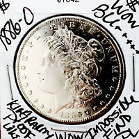 1886 O MORGAN WOW BU   GORGEOUS PROOF LIKE  IMPOSSIBLE FIND