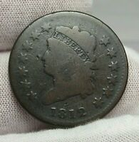 1812 SMALL DATE CLASSIC HEAD LARGE CENT.
