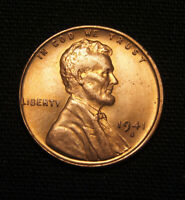 1941-S LINCOLN WHEAT CENT PENNY - BU RED