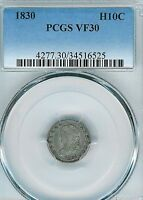 1830 CAPPED BUST HALF DIME : PCGS VF30