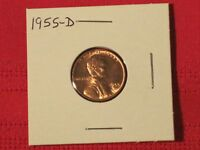 1955-D WHEAT CENT - EXCELLENT EXAMPLE COIN.  CRISP WHEAT.