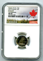 2019 CANADA 10 CENT CLASSIC DIME NGC MS69 FIRST RELEASES  TO