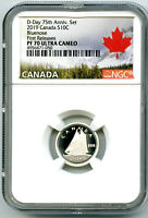 2019 CANADA 10 CENT SILVER PROOF NGC PF70 UCAM BLUENOSE DIME
