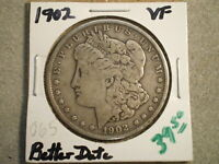 1902 MORGAN SILVER DOLLAR  @@RAW-UNCERTIFIED@@--WITH SHIPS FREE-------------