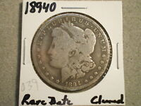 1894-O MORGAN SILVER DOLLAR/  DATE/ CLEANED  @RAW-UNCERTIFIED@