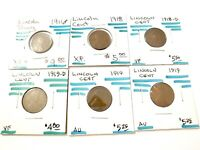 MIX LOT OF 6 LINCOLN WHEAT CENTS - 1916-1918-1919   L-045