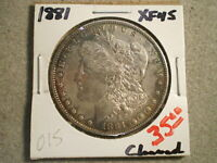 1881 MORGAN SILVER DOLLAR/ CLEANED-TONED  RAWUNCERTIFIED-SHIPS FREE-----