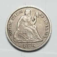 1876-S SEATED LIBERTY DIME. VF. - 174