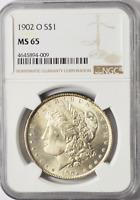 1902 O $1 MORGAN SILVER DOLLAR NEW ORLEANS NGC MINT STATE 65 BRILLIANT UNCIRCULATED