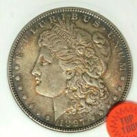 1897 MORGAN SILVER DOLLAR - ANACS MINT STATE 64 VAM 6A TOP 100 BEAUTIFUL COIN REF302