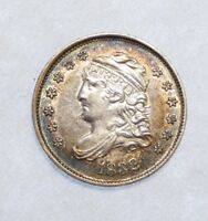 1832 CAPPED BUST HALF DIME ALMOST UNCIRCULATED SILVER 5C  PERIPHERAL ALBUM TONE