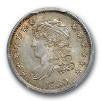 1830 H10C CAPPED BUST HALF DIME PCGS MINT STATE 63 UNCIRCULATED TONED ORIGINAL