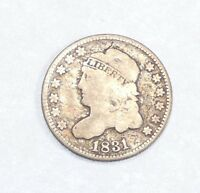 1831 CAPPED BUST SILVER HALF DIME GOOD 5C