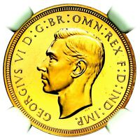 1937 KING GEORGE VI GREAT BRITAIN GOLD PROOF SOVEREIGN NGC PF66  STAR CAMEO