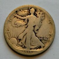 1916-S    WALKING LIBERTY HALF DOLLAR G CONDITION COIN