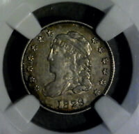 1829 BUST HALF DIME NGC EXTRA FINE 45  PERIPHERAL TONING