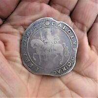 HAMMERED CHARLES I SILVER CROWN.