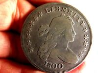 EARLY AMERICAN 1800 BUST SILVER DOLLAR IN  FINE CONDITION