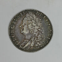 1758 GEORGE II STERLING SILVER SHILLING. HIGH GRADE.