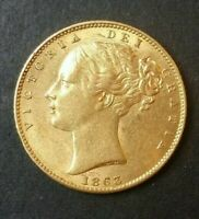 1863 GREAT BRITAIN GOLD SOVEREIGN